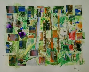 Watercolour collage on paper 40x50 cm 2015