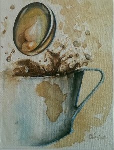Watercolour, coffee on paper 28x32 cm 2015 3rd The Coffee ArtProject www.coffeeartproject.com
