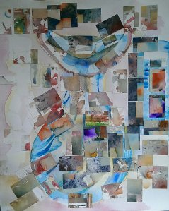 watercolor montage - which creates a beautiful abstract image taking my art one stage further.
