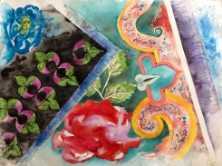 Custom, watercolour on paper, 63x83 cm, 2016